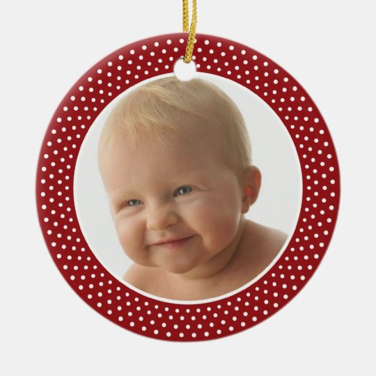 baby first christmas photo frame ornament