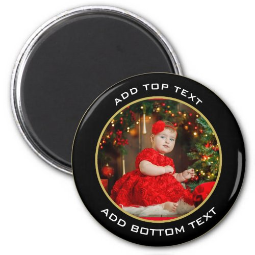 Baby First Christmas Photo Magnet