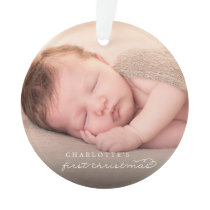 Baby First Christmas Snowflakes Photo Ornament