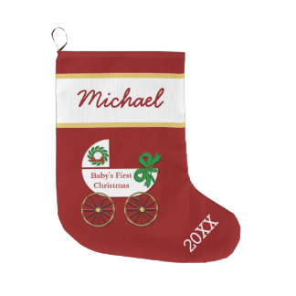Baby First Christmas Stockings & Baby First Xmas Stocking Designs ...