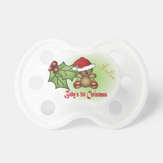 Baby First Christmas - Teddy Bear Pacifier
