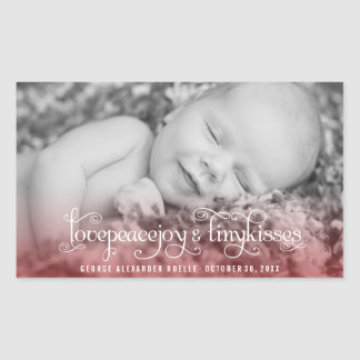 Baby First Christmas Tiny Kisses Photo Sticker