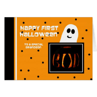 Baby First Halloween -- Grandson Greeting Card