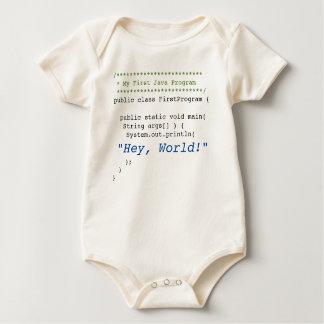 Baby First Java Program Baby Bodysuit