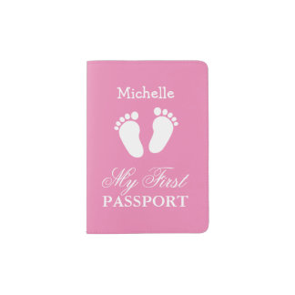 Baby first passport holder for girl or boy