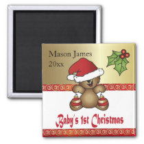 Baby First Personalize Christmas Magnet