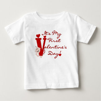 Baby First Valentine's Day Tees