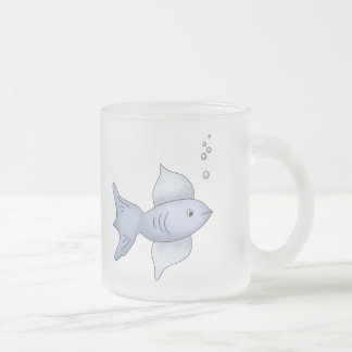 Baby Fish Frosted Glass Coffee Mug
