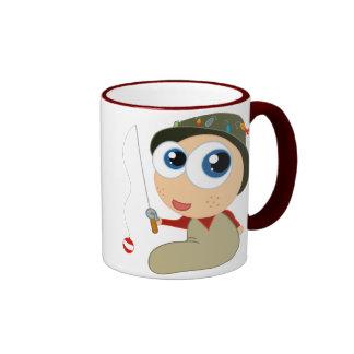 Baby Fisherman Funny Fishing Gift Ringer Coffee Mug