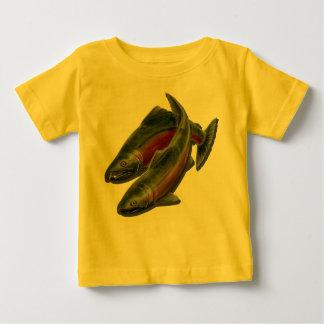 Coho salmon t shirts shirt designs zazzle for Baby fishing shirts