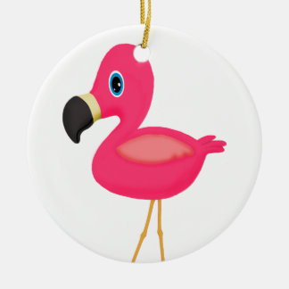Baby Flamingo Ceramic Ornament