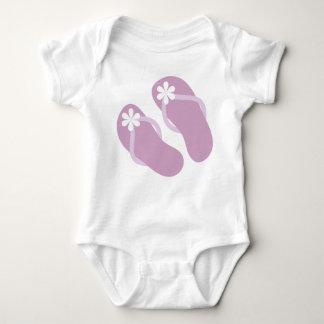 Baby Flip Flops in Purple Baby Bodysuit