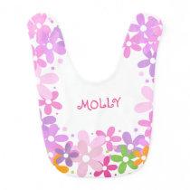 Baby Floral Monogram Baby Bib