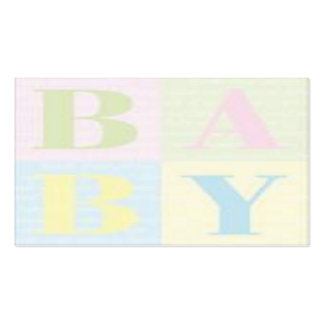 BABY Floral or gift attachment card