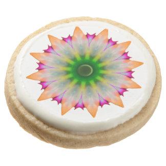 Baby Flower Round Premium Shortbread Cookie