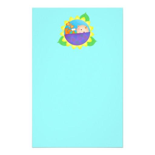 Baby Flower Stationery