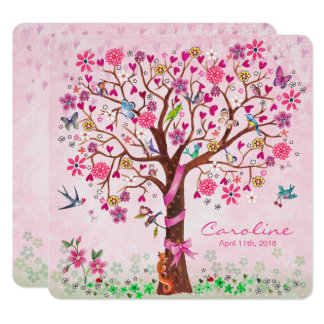Baby Flower Tree of Life | Birth Announcement Girl