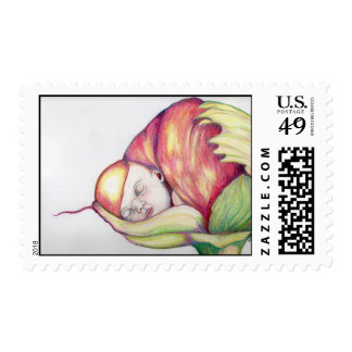 Baby Flowers Postage Stamp