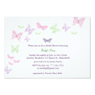 Baby Flutters Shower Invitation