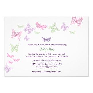 Baby Flutters Shower Invitation purple