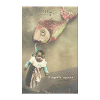 Baby Flying Fish Poisson d'avril April Fool's Day Canvas Print