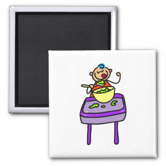 Baby Food 2 Inch Square Magnet