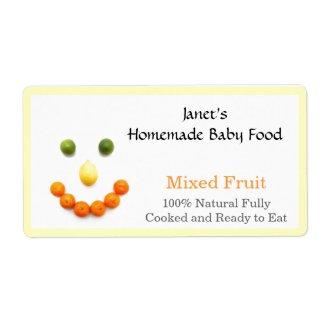 Baby Food Jar label label