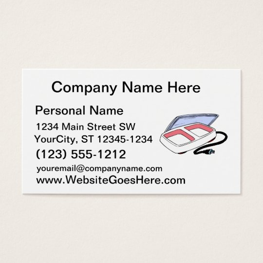 Baby food warmer graphic business card