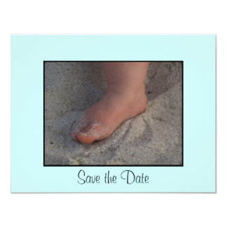 Baby Foot 4.25x5.5 Paper Invitation Card
