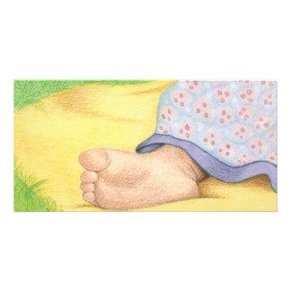 Baby foot photo card