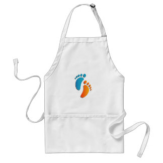 Baby foot prints adult apron