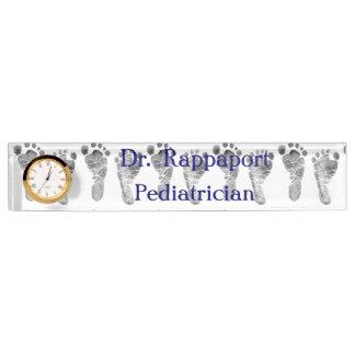 Baby Foot Prints Desk Nameplate
