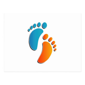 Baby foot prints postcards