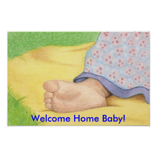 baby foot, Welcome Home Baby! Poster