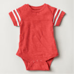Baby Football Bodysuit Red