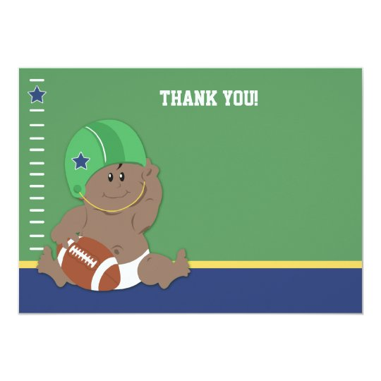 Baby Football Player #2 Flat Thank you notes Card
