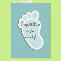 Baby Footprint Card