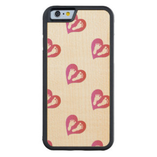 Baby Footprint Design by Leslie Harlow Carved Maple iPhone 6 Bumper Case