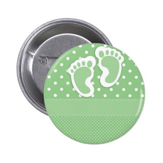 Baby  Footprints Adorable 2 Inch Round Button