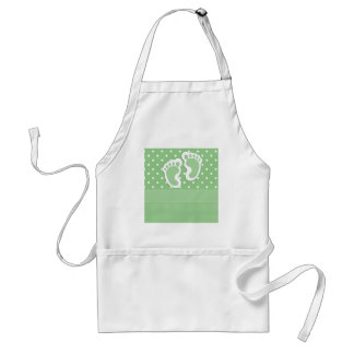 Baby  Footprints Adorable Aprons