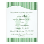 Baby Footprints Baby Shower - Green Personalized Invitations