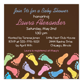 Baby Footprints- Baby Shower Invitation