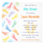 Baby Footprints- Baby Shower Invitation