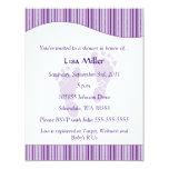 "Baby Footprints Baby Shower - Purple 4.25"" X 5.5"" Invitation Card"