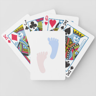 Baby Footprints Bicycle Playing Cards