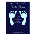 Baby Footprints (Boy) Announcement