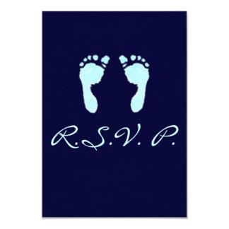 Baby Footprints (Boy) Card