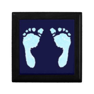 Baby Footprints (Boy) Jewelry Box