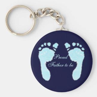 Baby Footprints (Boy) Keychain