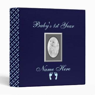 Baby Footprints (Boy) (Photo) Vinyl Binder